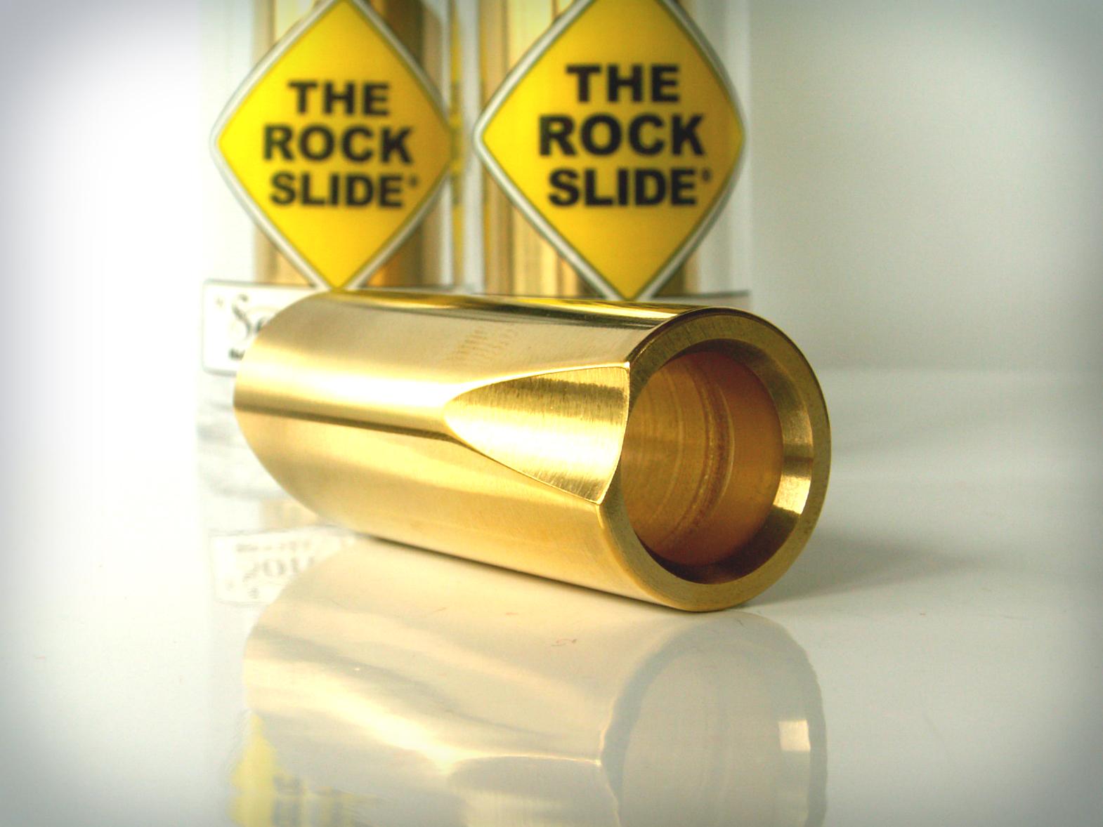 the rock slide polished brass guitar slide. Black Bedroom Furniture Sets. Home Design Ideas